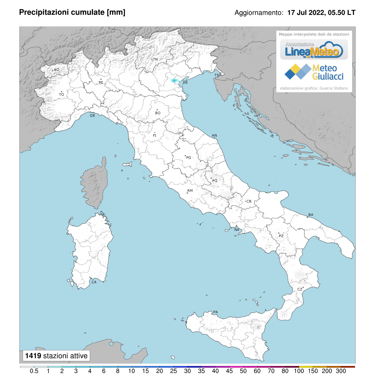 Precipitazioni accumulate Italia