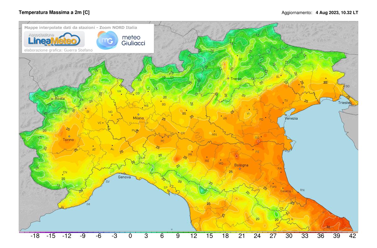 Temperature minime Nord Italia