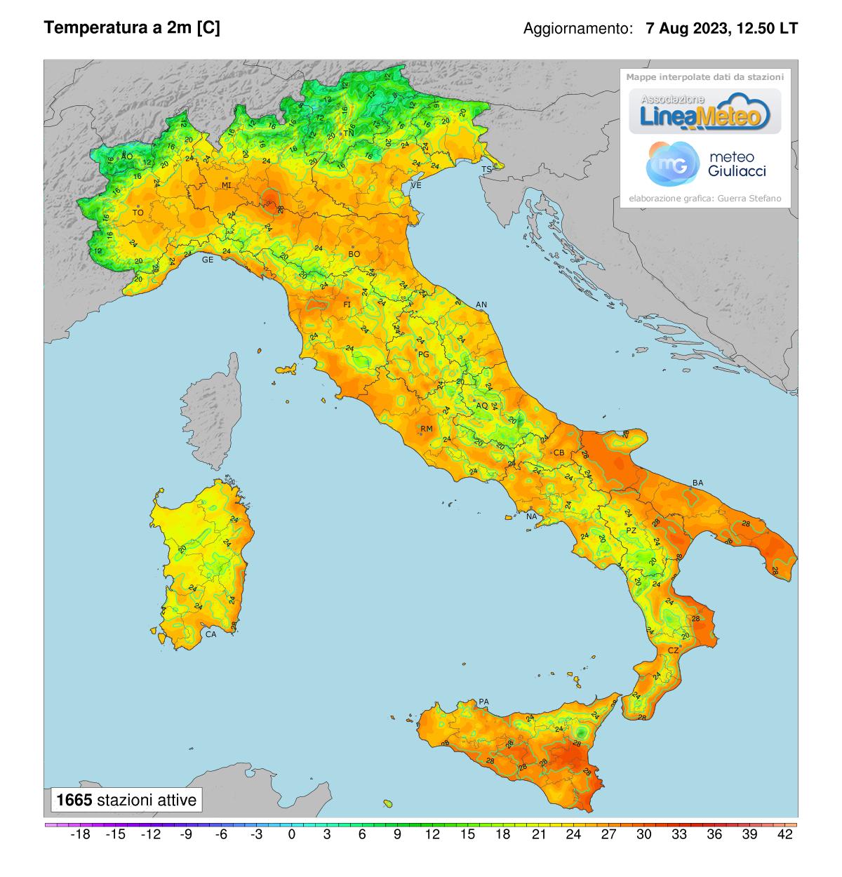 Meteo Cartina Italia.Mappe Real Time Italia Meteogiuliacci It