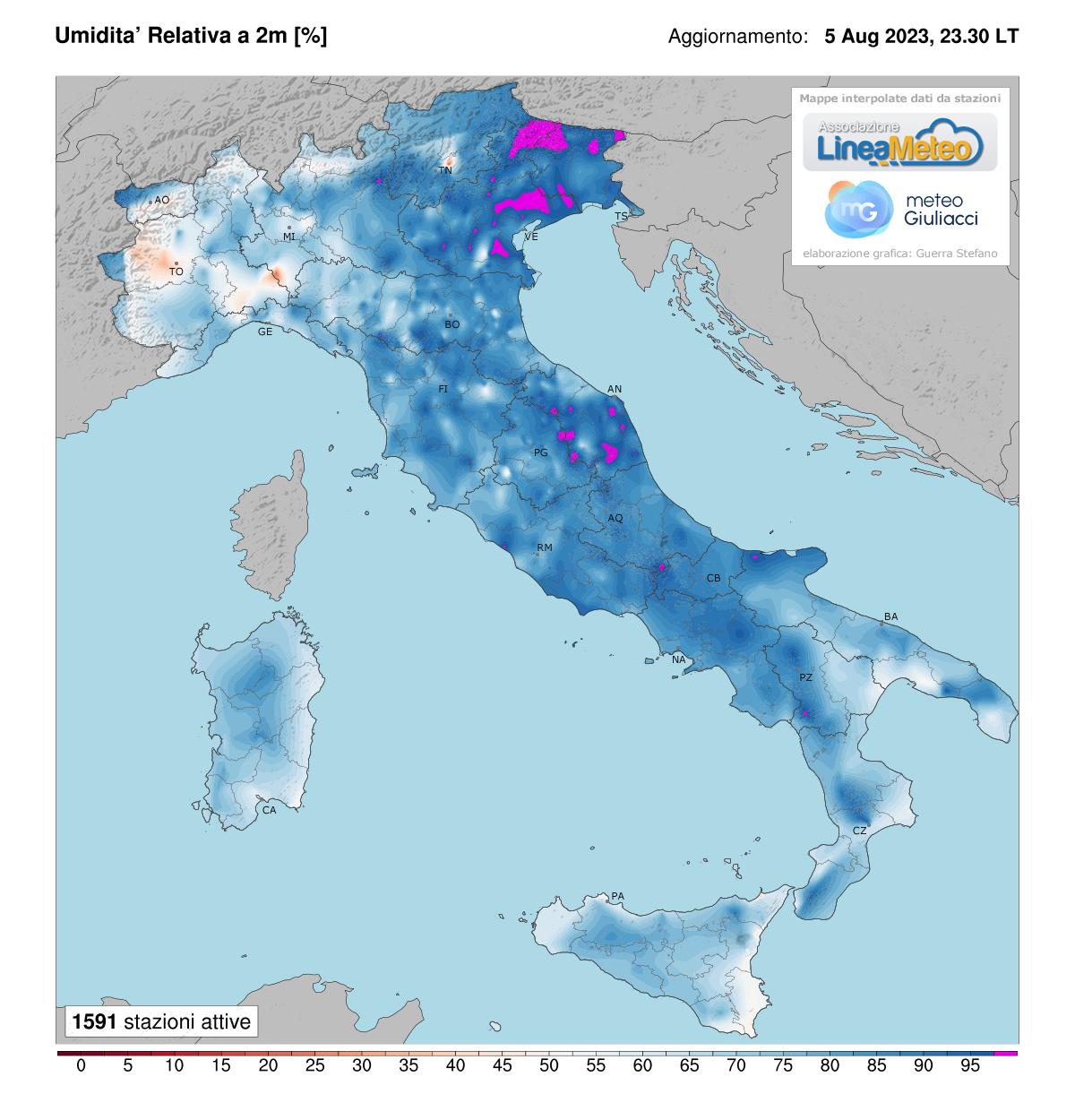 Umidità relativa Italia