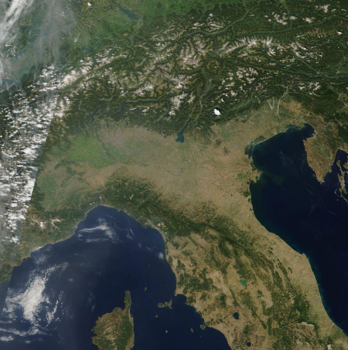 Scatto satellitare di fine Agosto 2012