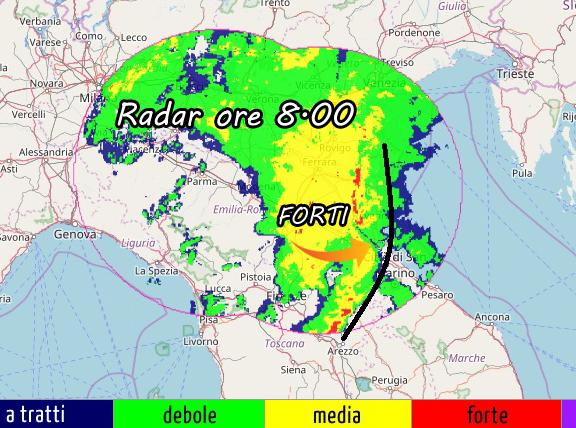 Notte di pioggia in emilia romagna picchi di 60 mm - Meteo it bagno di romagna ...