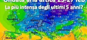 Fig.1 - Temperature al suolo lunedì 26 alle ore 19.00 (ECMWF)