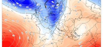 Fig.1 - La colata di aria fredda prevista per mercoledì 13 dicembre