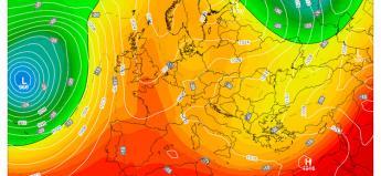 Anticiclone sull'Europa centro-occidentale martedì 17 aprile