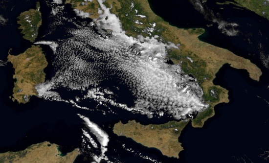 Nubi osservate sul Basso Tirreno nel mattino di martedì 12 marzo