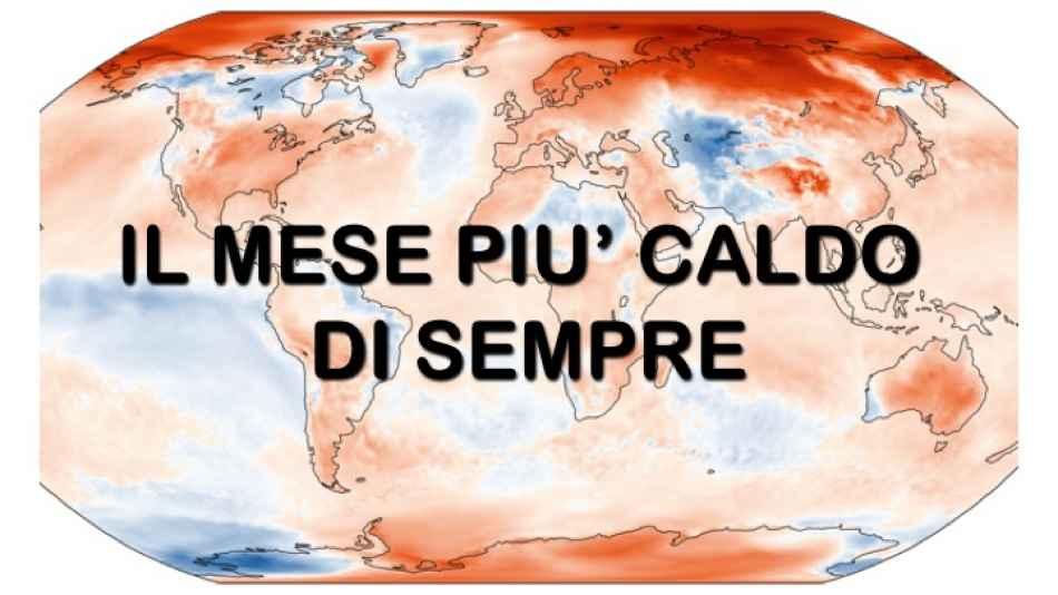 Novembre il mese più caldo della storia nel mondo