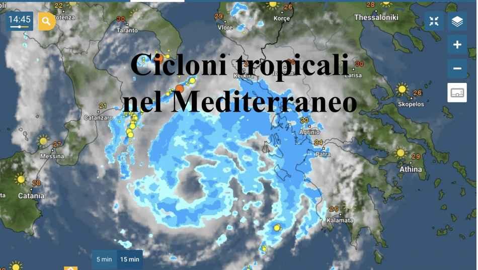 Il ciclone tropicale tra Ionio e Grecia il 17 settembre