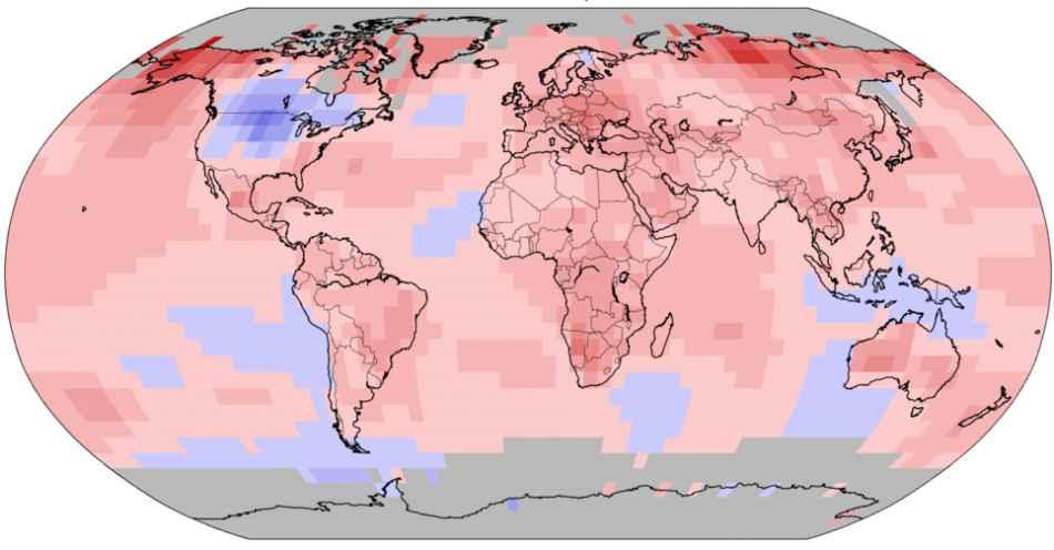 Anomalie Temperature Gen-Nov 2019