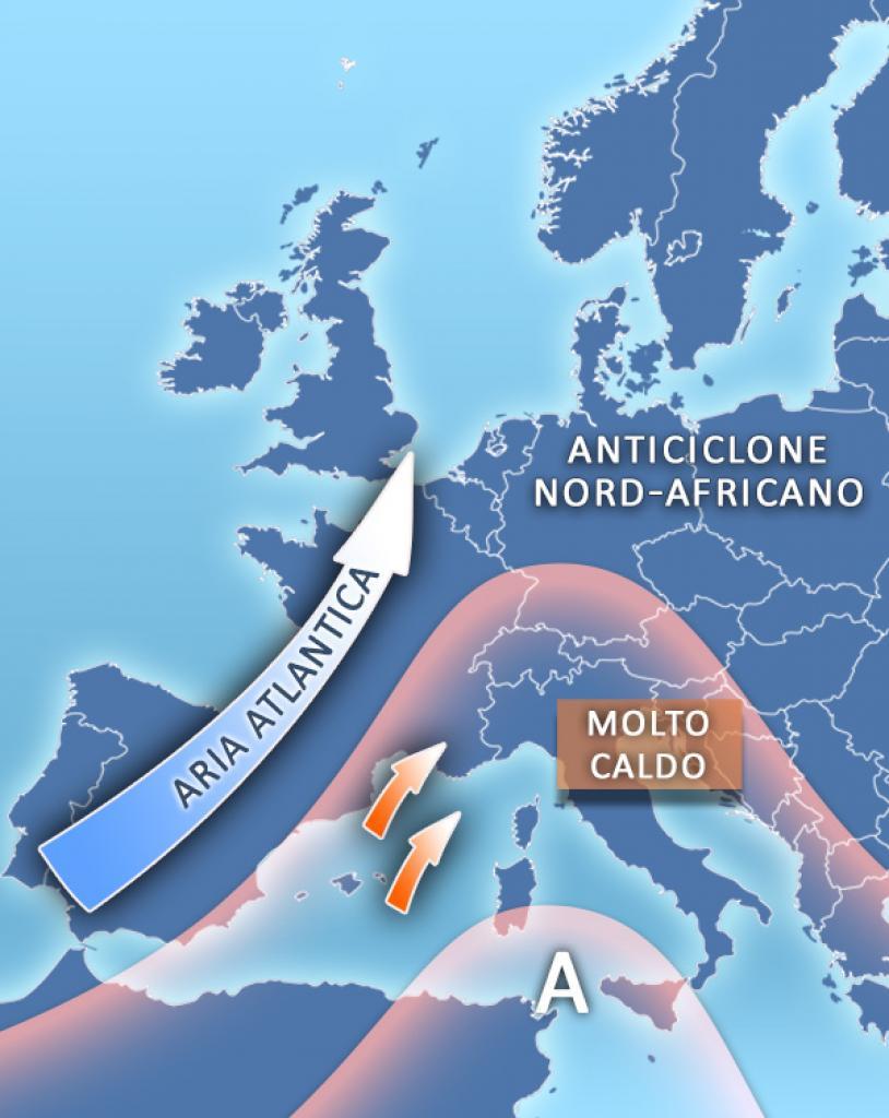 Meteo: caldo africano con Giuda, percepite temperature fino a 40 gradi