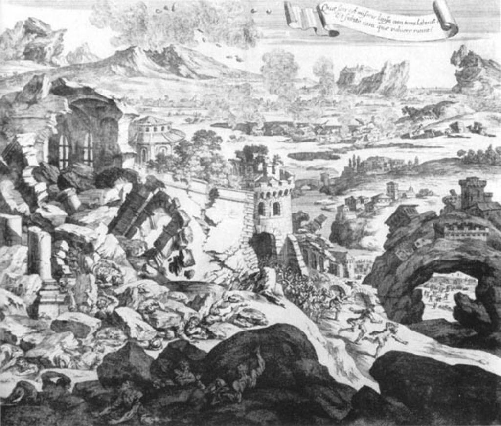 Un forte terremoto in Italia centrale