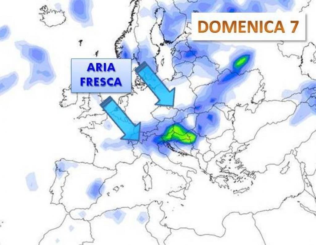 Meteo, le previsioni per la settimana: temporali e aria più fresca