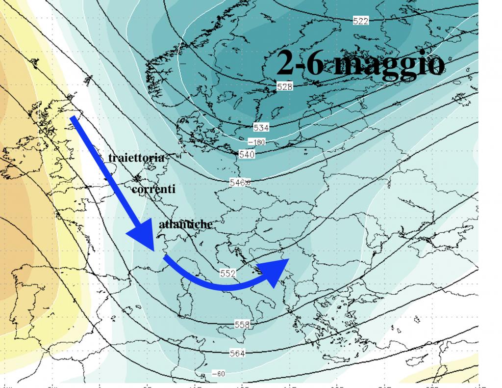 Meteo: previsioni fino 7-8 maggio in 15 righe