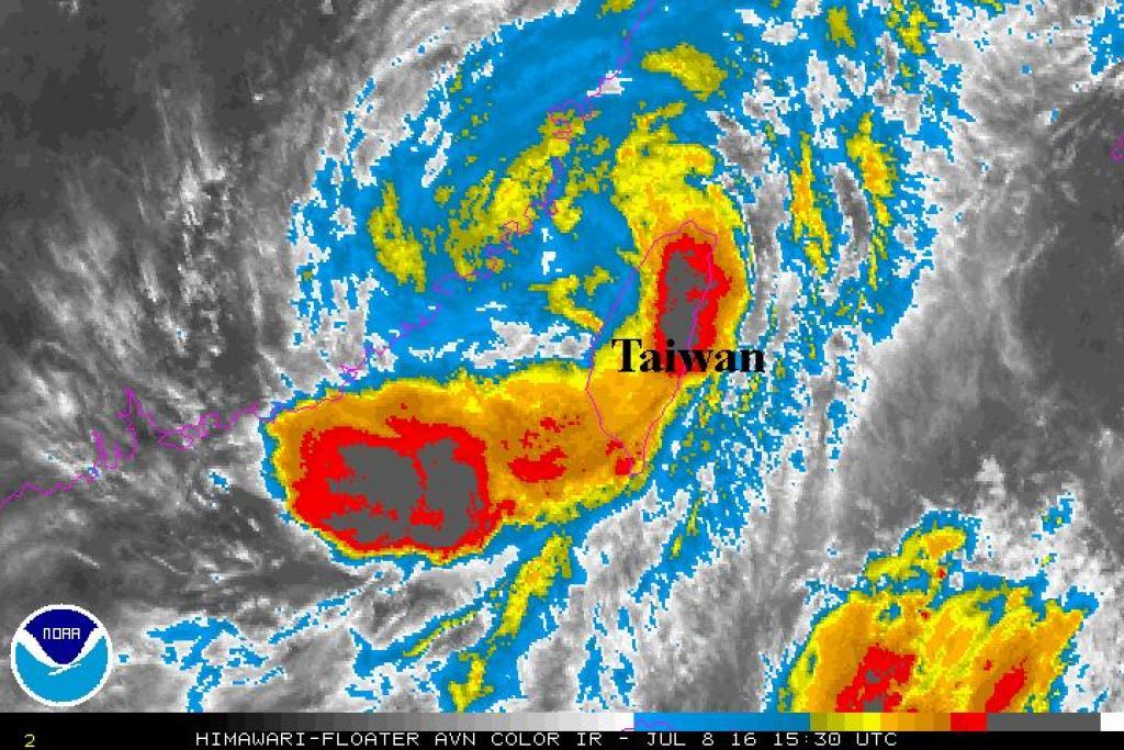 Taiwan bloccata dal tifone Nepartak