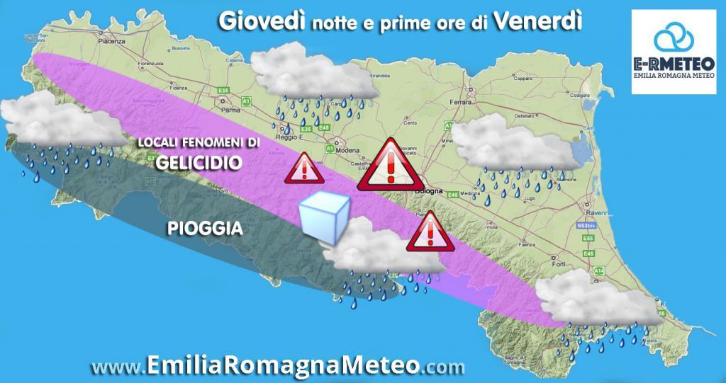 Gelicidio in atto in emilia romagna meteo giuliacci it - Il meteo bagno di romagna ...