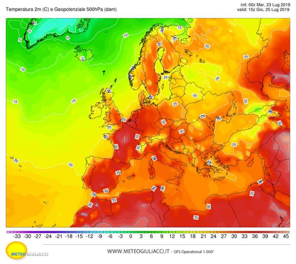 Caldo estremo : è record storico per Parigi, raggiunti i 42.4°C
