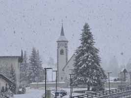 Neve forte in atto a Corvara (BZ)