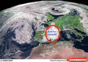 Satellite alla ore 09.00 di venerdì 24