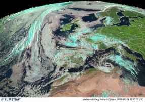 Satellite meteo alle ore 09.00 di martedì 29 maggio