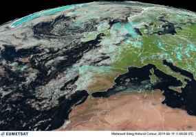 Satellite meteo mercoledì 19 al mattino