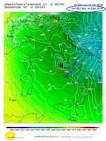 Pressione al livello dl mare nella notte del 4 gennaio