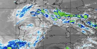 Immagine di copertina: satellite meteo alle ore 14.00 di lunedì 4 giugno