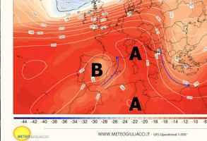 Pressione mercoledì alla quota di 5500m