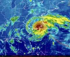 Uragano Florence alle ore 13.45