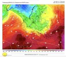 Temperatura a 1500m prevista per il 24 settembre