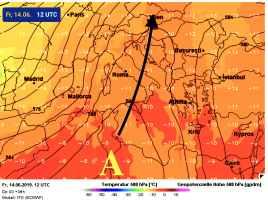anticiclone africano oggi 14 giugno
