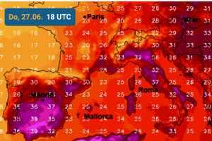Temperature massime il  27 giugno