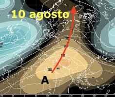 Anticiclone Africano sull'Italia il 10 agosto