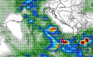 Accumulo delle precipitazioni previste per le prossime 48 ore