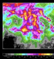 Le piogge totali previste tra il 23 ottobre e l'1 novembre