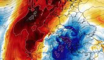 Cospicua flessione termica sul Mediterraneo centrale