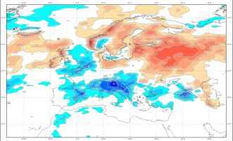 Le precipitazioni previste per il mese di agosto 2018