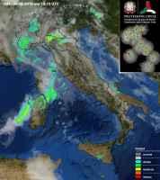 Radar Meteo alle ore 21.40