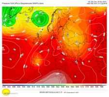 Alta pressione sull'Europa centrale: bel tempo anche sull'Italia