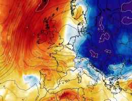 Aria molto fredda in discesa dalla Scandinavia