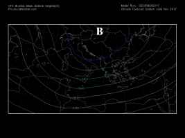 Fig.1 - Circolazione atmosferica media mensile sull'Italia a novembre 2017