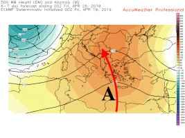 Pressione intorno alla quota di 5500m il 25 aprile