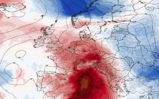 Fiammata africana sull'Europa
