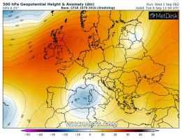 Goccia fredda in isolamento sul Mediterraneo