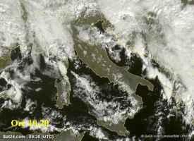 Fig.1 - Satellite meteo alle ore 10.20 di mercoledì 8 novembre.