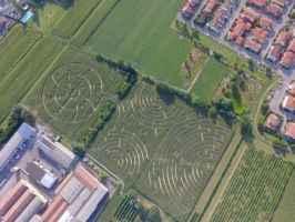 Il labirinto realizzato da Carlo Galassi - Alfonsine, Ravenna - Emilia Romagna