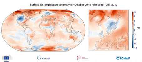 Anomalie termiche Ottobre 2019