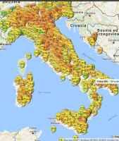 Fig.1 - Visione globale delle temperature massime oggi venerdì (www.lineameteo.it)
