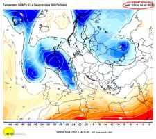 Correnti e temperature a 5500m giovedì' 4 aprile