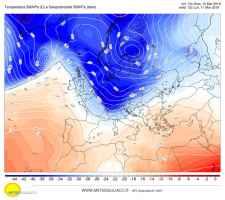 Nucleo freddo in arrivo nella seconda parte di lunedì 11 marzo