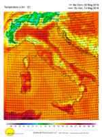 Temperature prevista per le ore 17-00 del 10 maggio